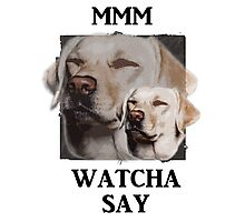 MMM WATCHA DOG Photographic Print