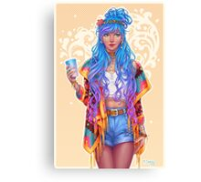 Cool girl Canvas Print