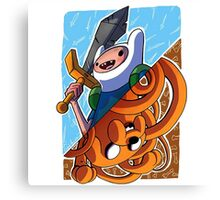 Adventure Time Jack and Finn Canvas Print