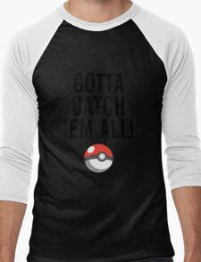 POKEMON GO CATCH THEM ALL Men's Baseball ¾ T-Shirt