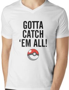 POKEMON GO CATCH THEM ALL Mens V-Neck T-Shirt