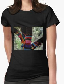 Stockings for the Well Dressed Tree!  Womens Fitted T-Shirt