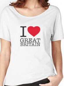 I ♥ GREAT BRITAIN Women's Relaxed Fit T-Shirt