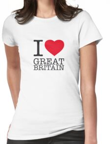 I ♥ GREAT BRITAIN Womens Fitted T-Shirt