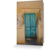 Djerba Street Art - Doorway Greeting Card
