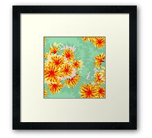 Seamless pattern with flowers Framed Print