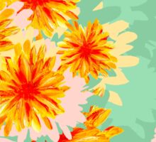Seamless pattern with flowers Sticker