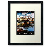 Limoges, French Travel Poster Framed Print