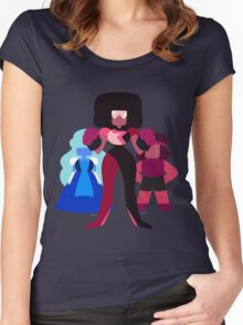 Minimalist Garnet Fusion Vector Women's Fitted Scoop T-Shirt
