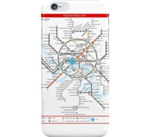 Metro 2033 Moscow Map iPhone Case/Skin