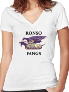 BlitzBall - Ronso Fangs Women's Fitted V-Neck T-Shirt