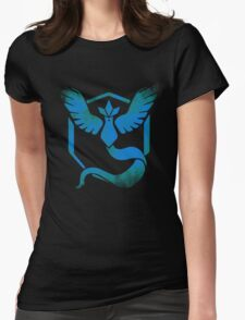 Team Mystic grunge blu Womens Fitted T-Shirt