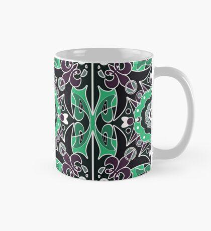 Seamless beautiful antique pattern ornament. Geometric background design, repeating texture. Mug