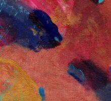 New Beginnings Abstract Art Sticker