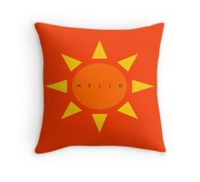 Hello Sun Throw Pillow