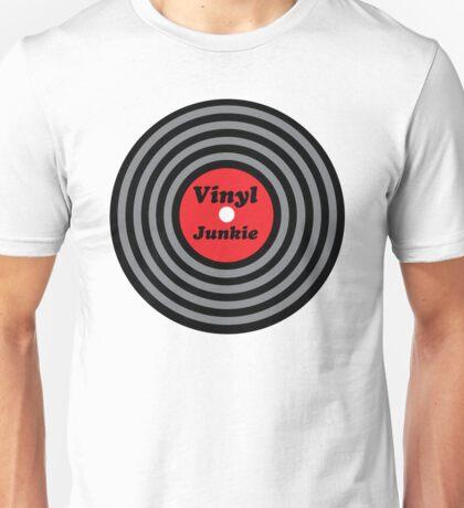 Vinyl Junkie Music Quote Unisex T-Shirt