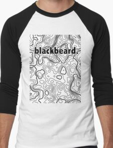 Topographic BlackBeard Men's Baseball ¾ T-Shirt