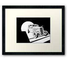 1934 Ford Tudor Sedan Hotrod - Inked Framed Print
