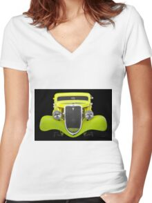 1934 Ford 'Chopped Top' Coupe II Women's Fitted V-Neck T-Shirt