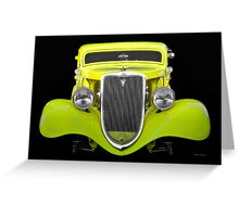 1934 Ford 'Chopped Top' Coupe II Greeting Card