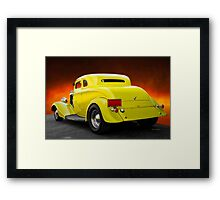 1934 Ford 'Chopped Top' Coupe 3Q Rear Framed Print