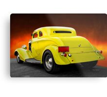 1934 Ford 'Chopped Top' Coupe 3Q Rear Metal Print