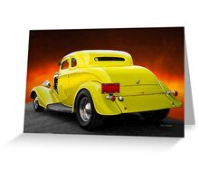 1934 Ford 'Chopped Top' Coupe 3Q Rear Greeting Card