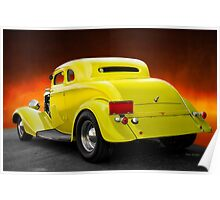 1934 Ford 'Chopped Top' Coupe 3Q Rear Poster