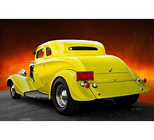 1934 Ford 'Chopped Top' Coupe 3Q Rear Photographic Print