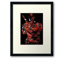Deadpool Mash-up Framed Print