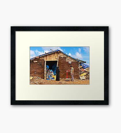 Recycling. Framed Print