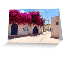 Djerba Street Art - Floral Streets Greeting Card