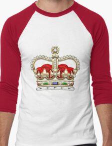 St. Edward's Crown - British Royal Crown  Men's Baseball ¾ T-Shirt