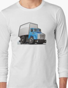 Cartoon delivery or cargo truck Long Sleeve T-Shirt