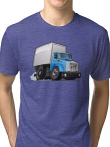 Cartoon delivery or cargo truck Tri-blend T-Shirt