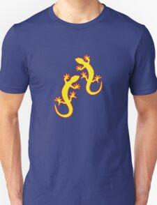 Geckos gelb rot Unisex T-Shirt