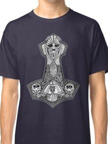 Thors Hammer with Viking Ship Classic T-Shirt
