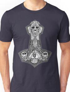 Thors Hammer with Viking Ship Unisex T-Shirt