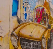 Djerba Street Art - taxi Sticker
