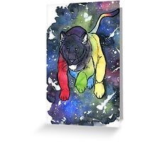 Voltron Universe Lion Greeting Card