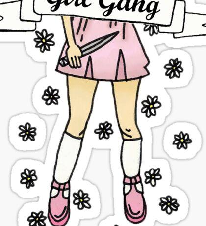 Girl Gang Banner in Baby Pink Sticker