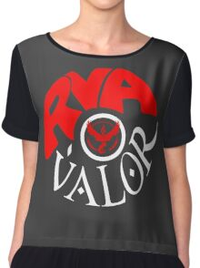 Team Valor RVA - Pokeball Version Chiffon Top