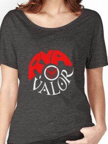 Team Valor RVA - Pokeball Version Women's Relaxed Fit T-Shirt