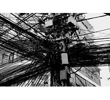 Electric cables exchange, Saigon, Vietnam Photographic Print