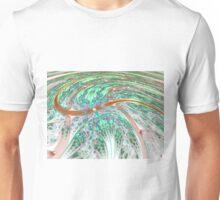 Dynamic Swirl - Abstract Fractal Artwork Unisex T-Shirt