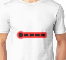 Morse Code Number 1 Unisex T-Shirt