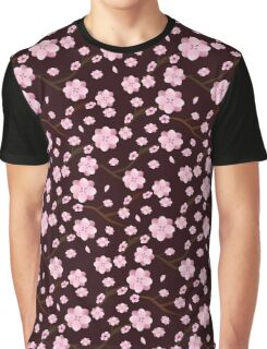 Decorative cherry blossom pattern Graphic T-Shirt
