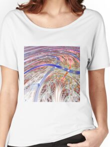 Colorful Swirl - Abstract Fractal Artwork Women's Relaxed Fit T-Shirt