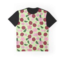 Pattern of cherry and cherry blossom Graphic T-Shirt