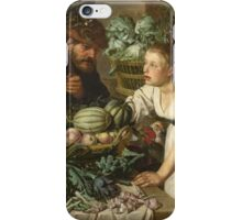 Pieter Cornelis  Van Rijck - Market stall with two figures. Still Life: Market, Woman, man, food,  vegetables, vegetable, fruits, cooking, kitchen,  feast iPhone Case/Skin